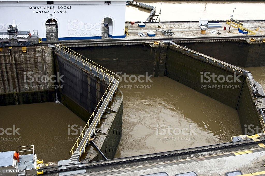 Miraflores Locks. Panama Canal stock photo