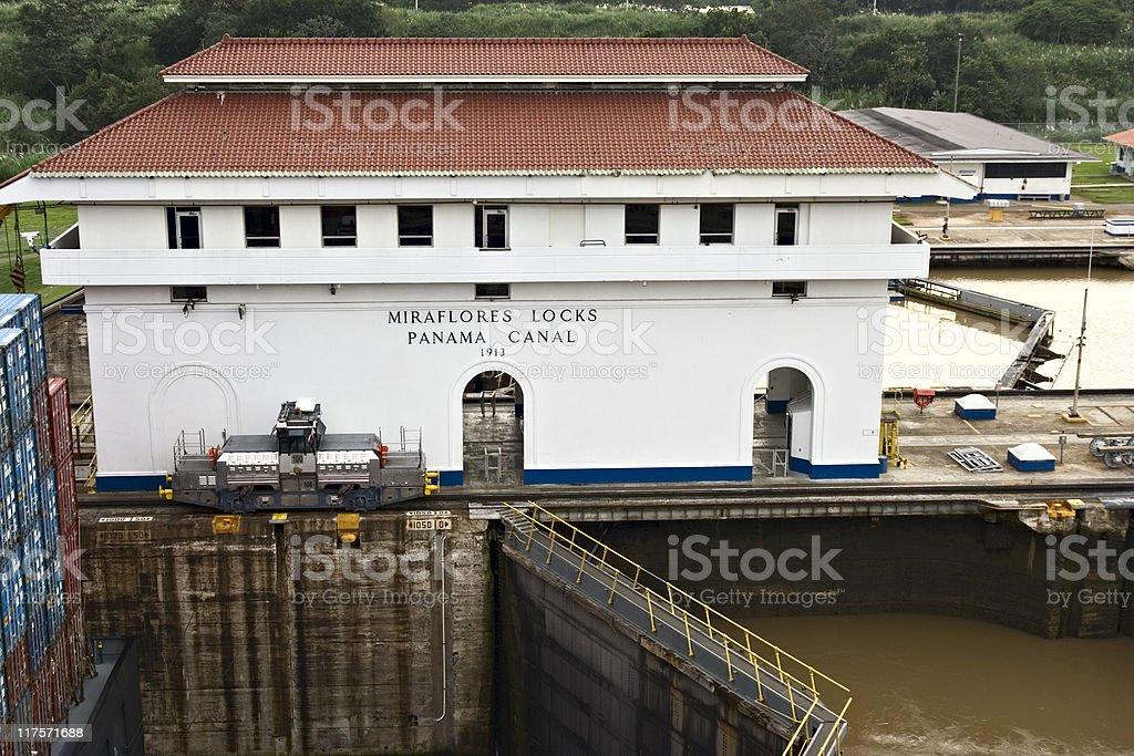 Miraflores Locks. Panama Canal royalty-free stock photo