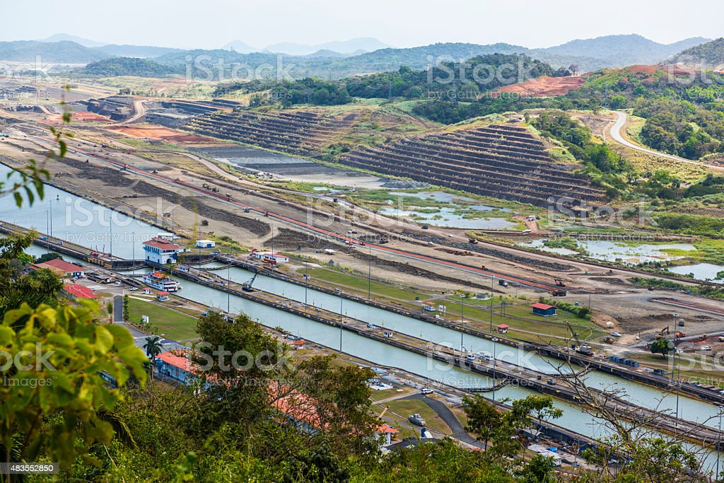 Miraflores Locks Panama Canal, stock photo