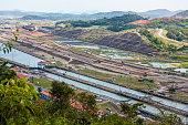 Miraflores Locks Panama Canal,