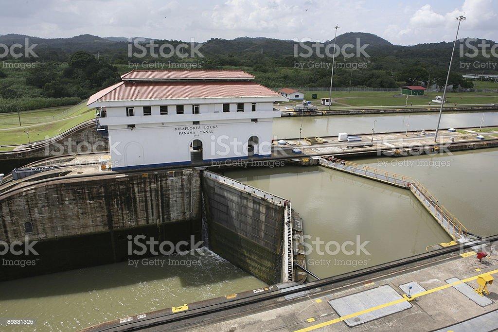 Miraflores locks, Panama stock photo