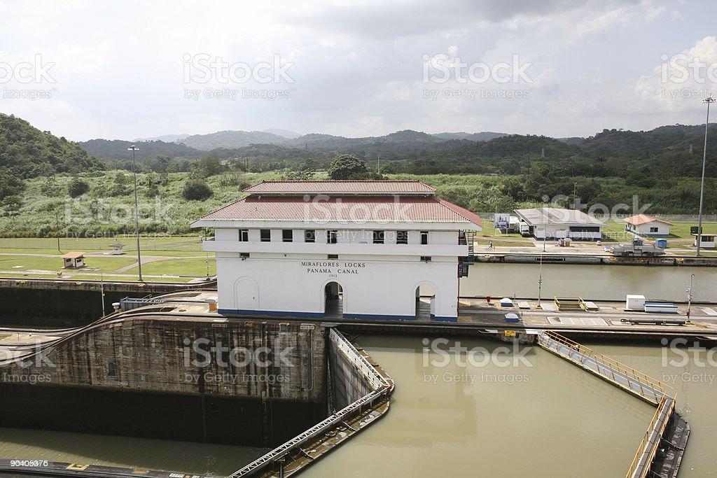 Miraflores Locks - Panama stock photo