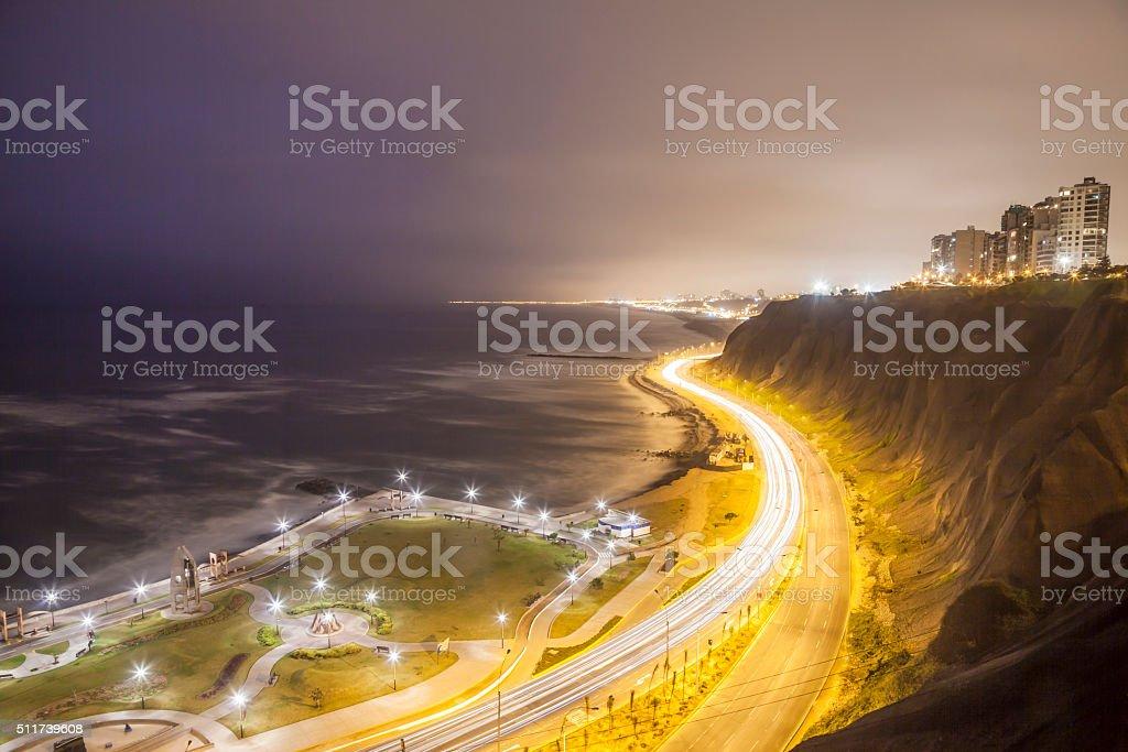 Miraflores Malecón in Lima, Peru stock photo