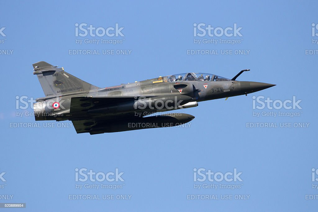 Mirage 2000 fighter jet stock photo