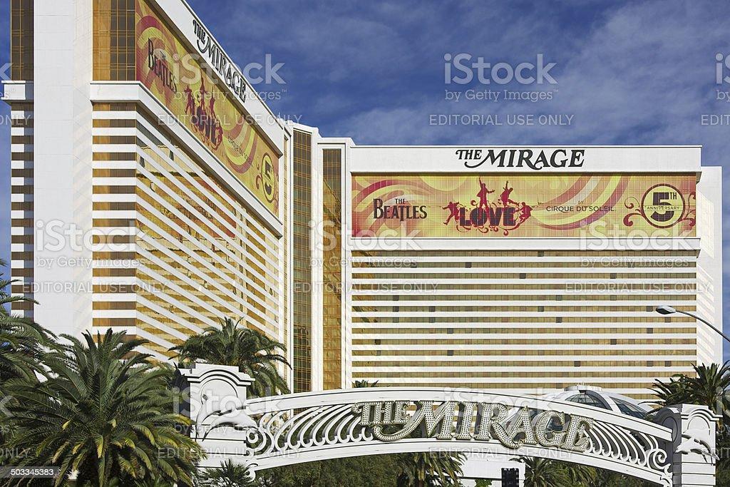 Mirage hotel and casino in Las Vegas stock photo