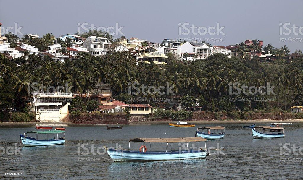 Miramar Beach Marina, Panjim royalty-free stock photo