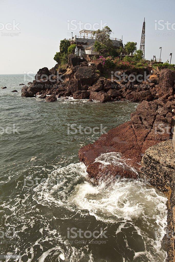 Miramar Beach, Panjim stock photo