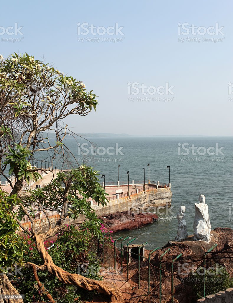Miramar Beach, Panjim stock photo