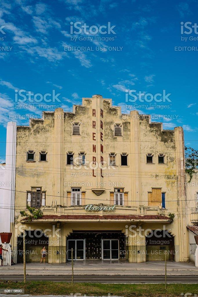 Miramar Movie Theatre stock photo