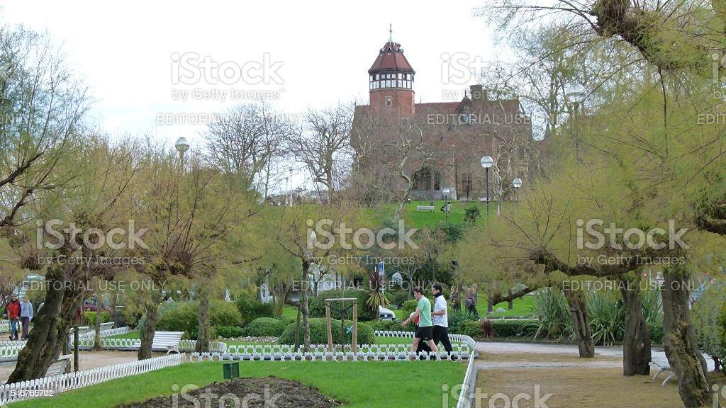 Miramar Palace stock photo