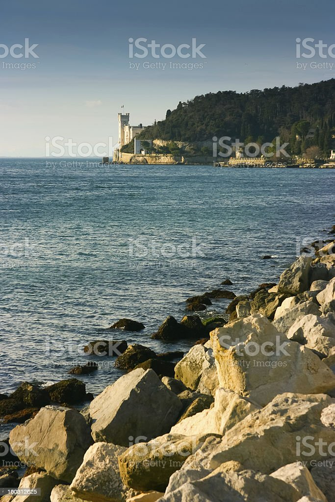 Miramare Castle royalty-free stock photo