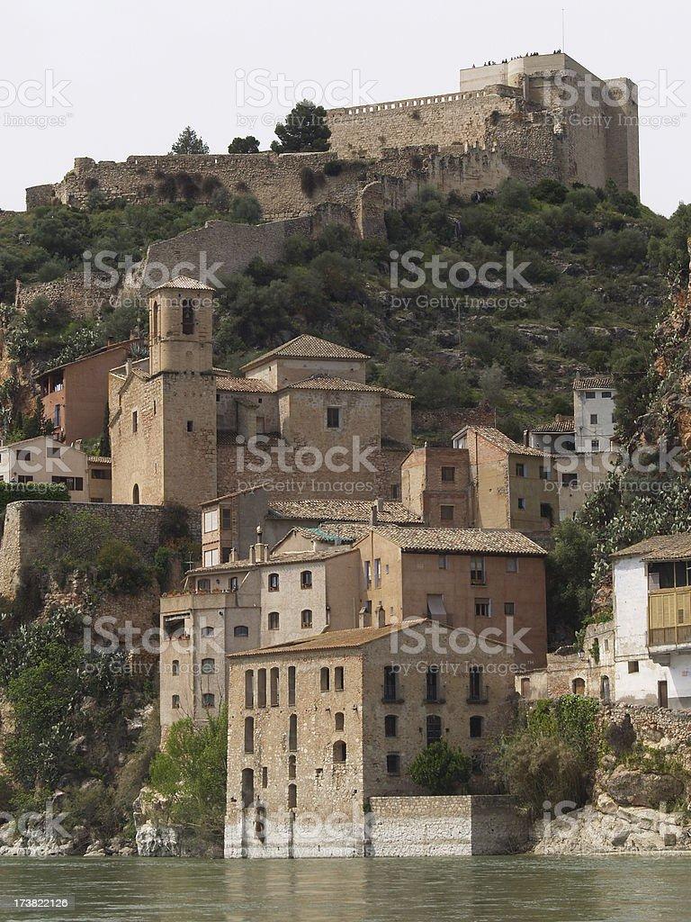 Miravet Castle stock photo