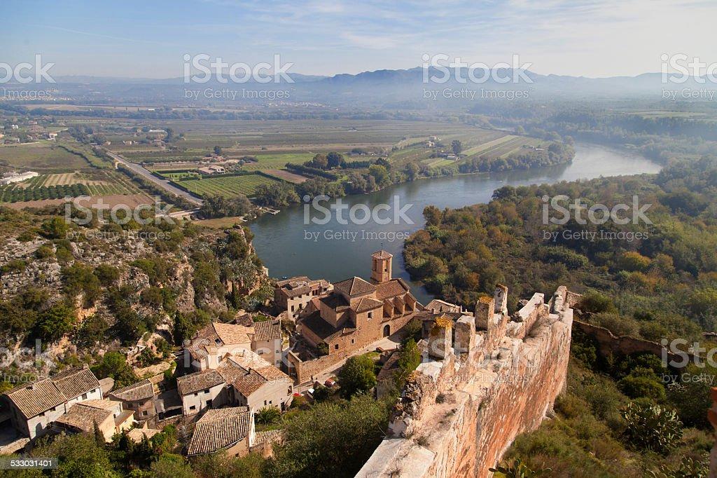 Miravet landscape stock photo