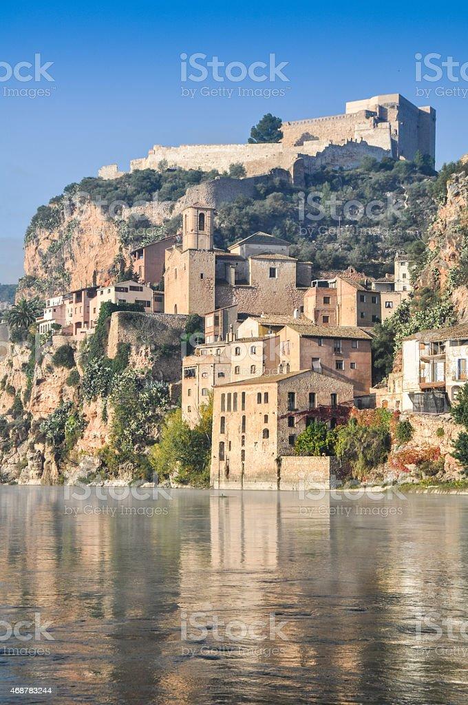 Miravet, Mediterranean town, Tarragona (Spain) stock photo