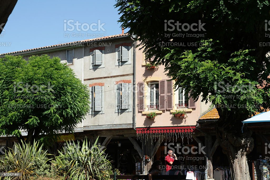 Mirepoix in France stock photo