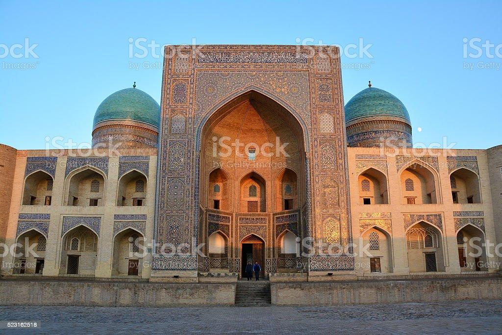 Miri Arab madrasah in Bukhara stock photo