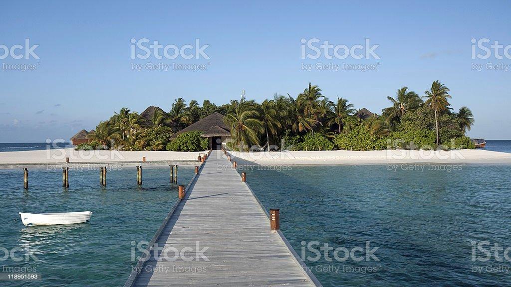 Mirihi - A small tropical island, Maldives stock photo