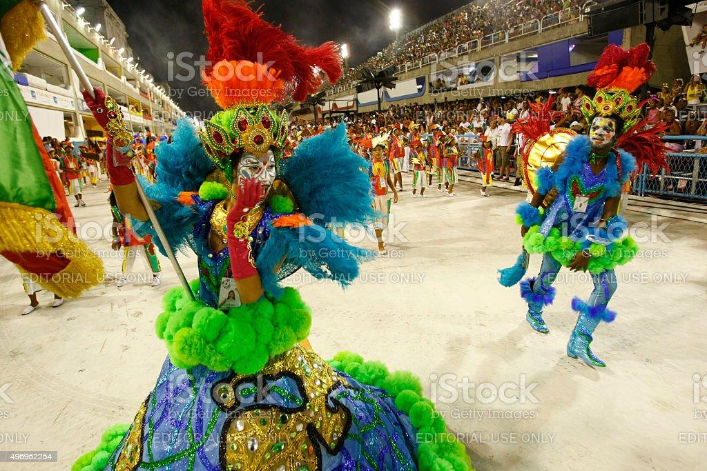 Mirim samba school presentation, Sambodrome, Rio de Janeiro stock photo