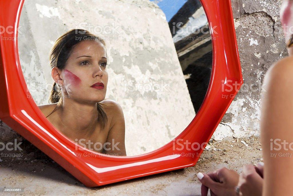 Mirror Bride stock photo