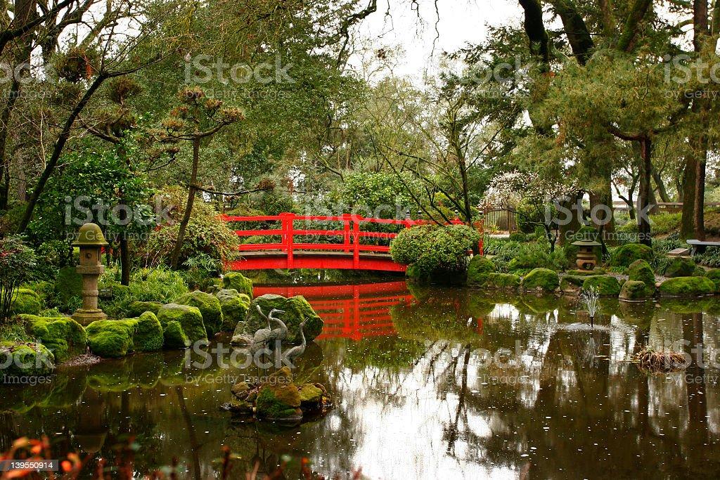 Mirror Bridge royalty-free stock photo