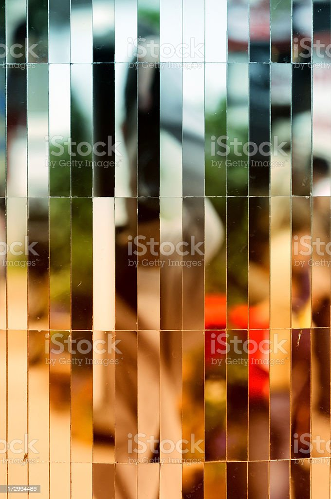 mirror detail on a fairground royalty-free stock photo