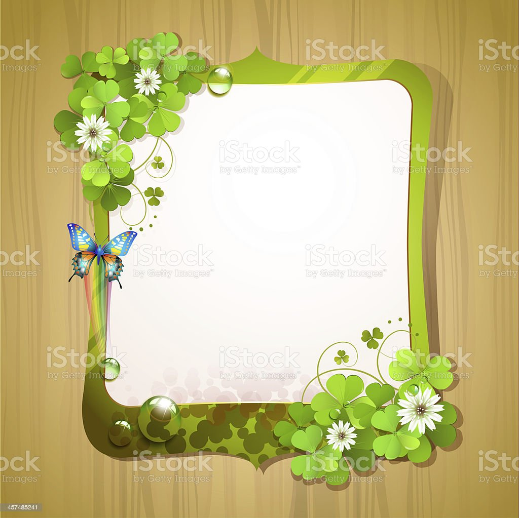 Mirror frame with clover royalty-free stock photo
