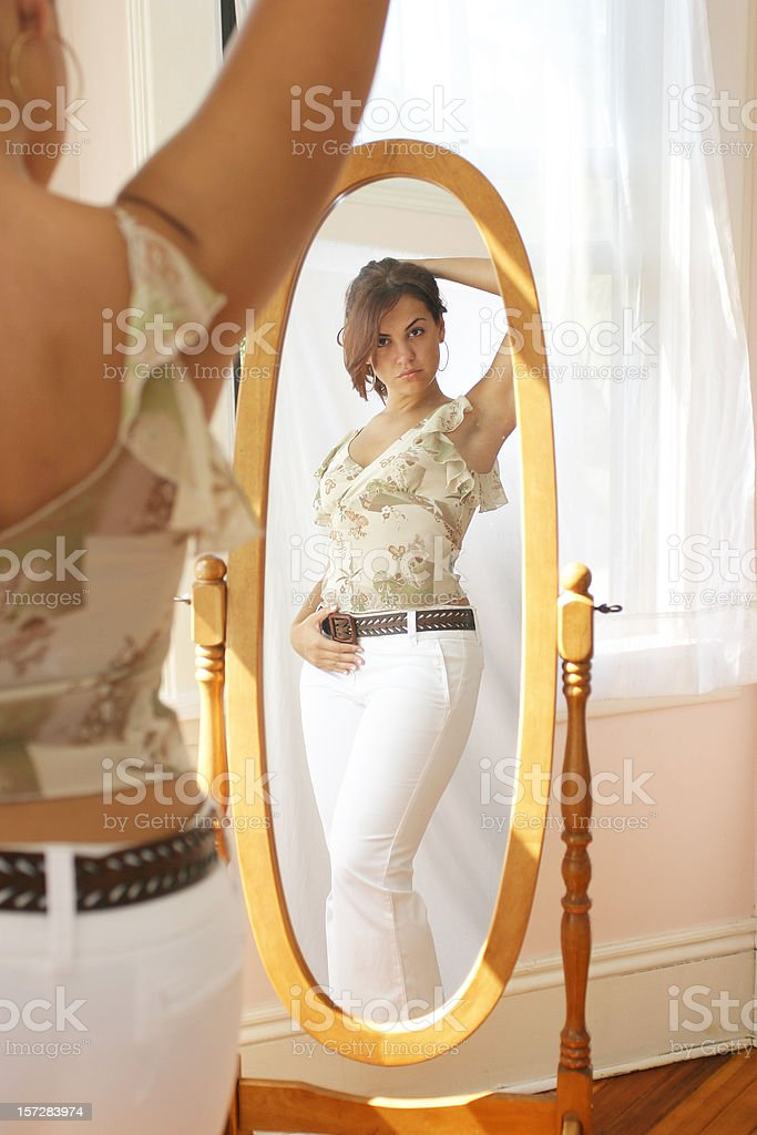 mirror girl. royalty-free stock photo