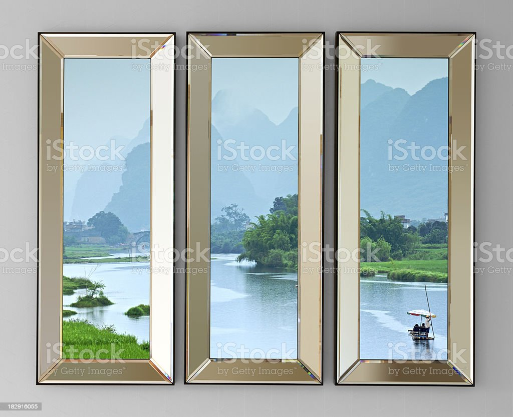 mirror glass frames with clipping path royalty-free stock photo