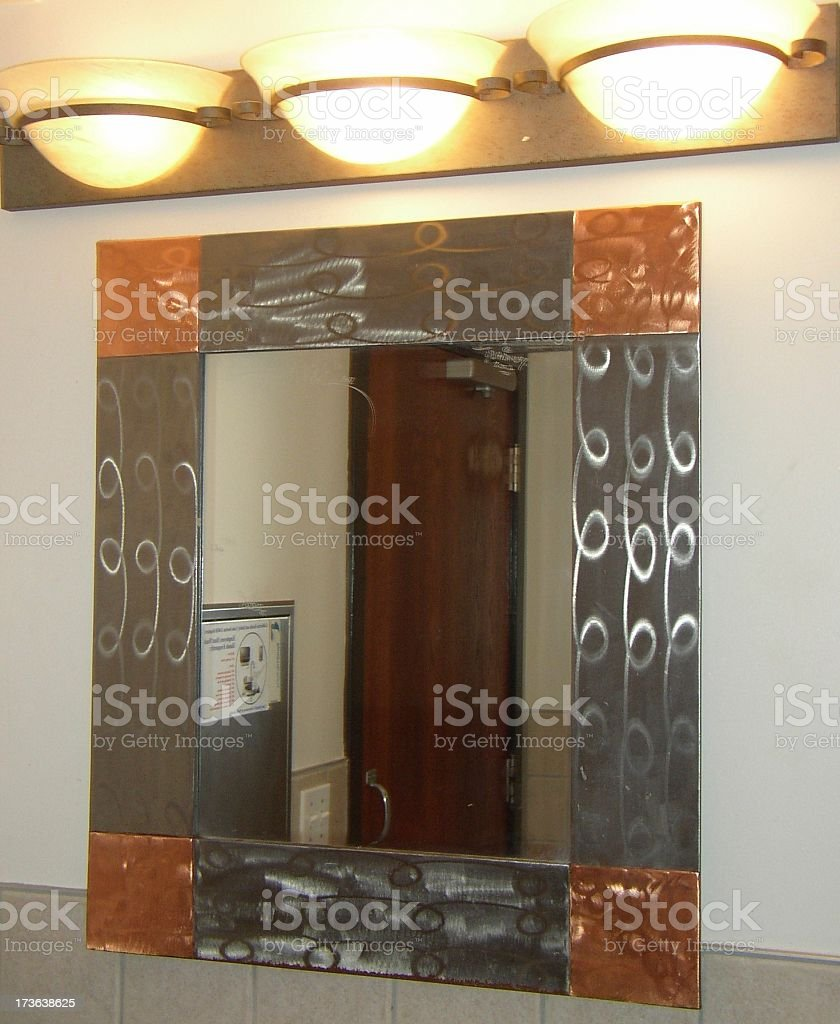 mirror in the bathroom stock photo