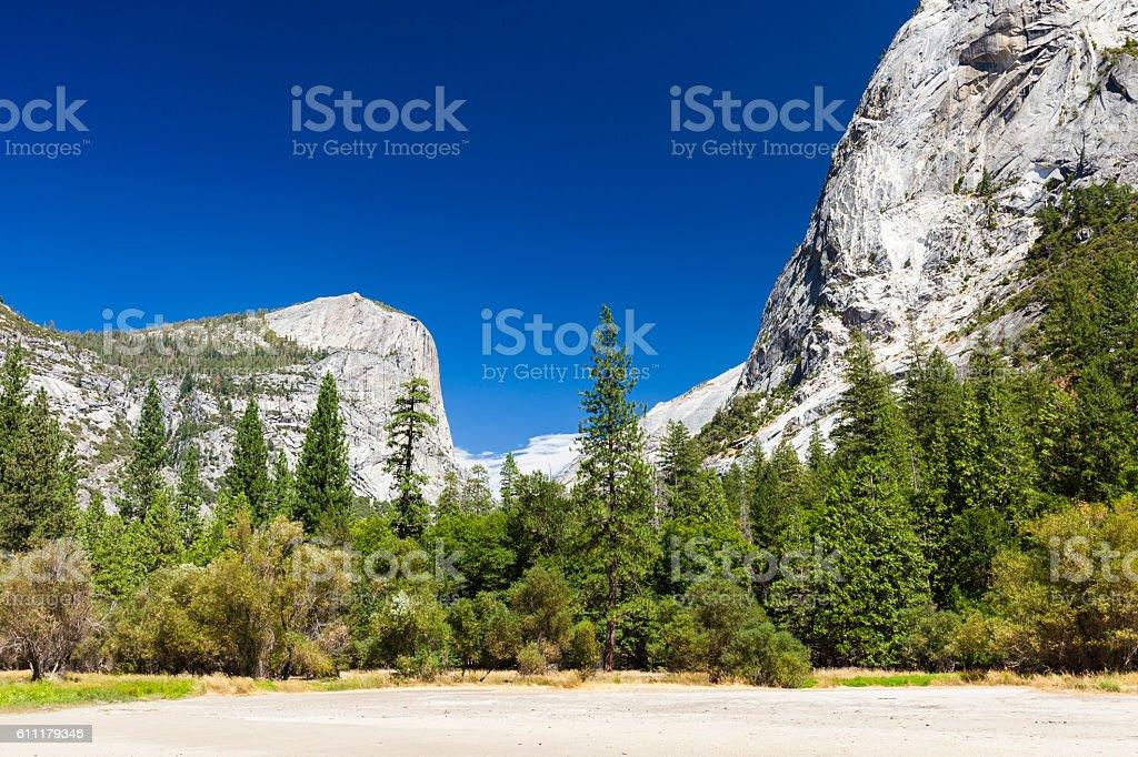 Mirror Lake In Yosemite During The Summer stock photo
