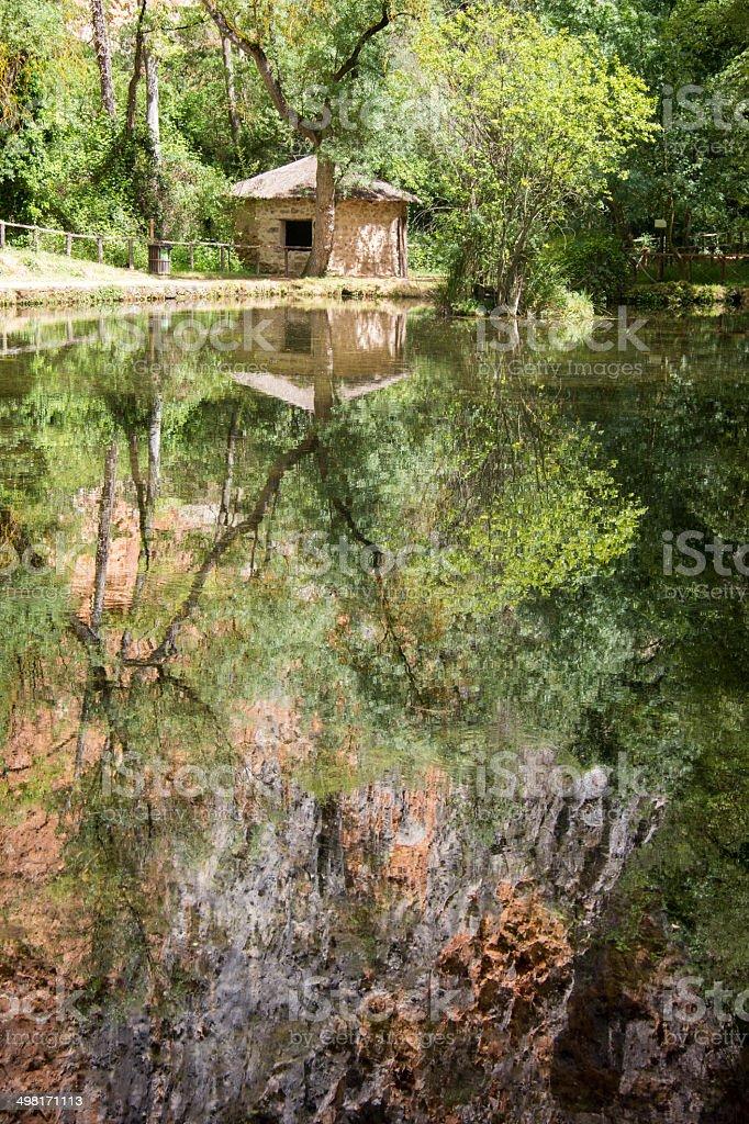Lago del Espejo stock photo