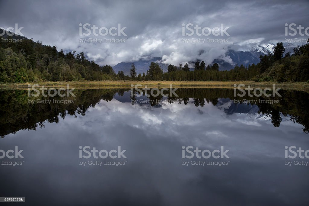 Mirror lake stock photo