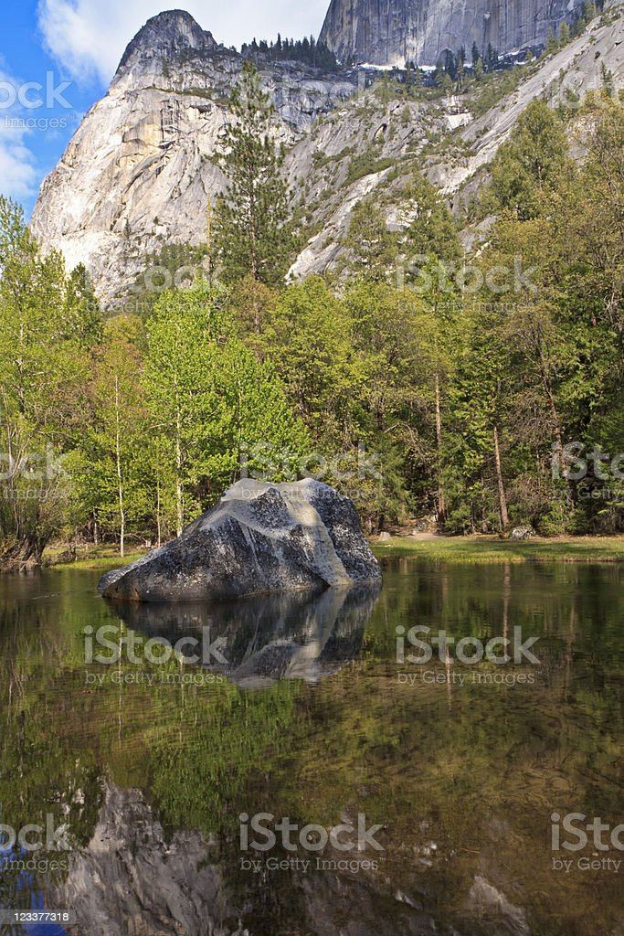 Mirror Lake Rock stock photo