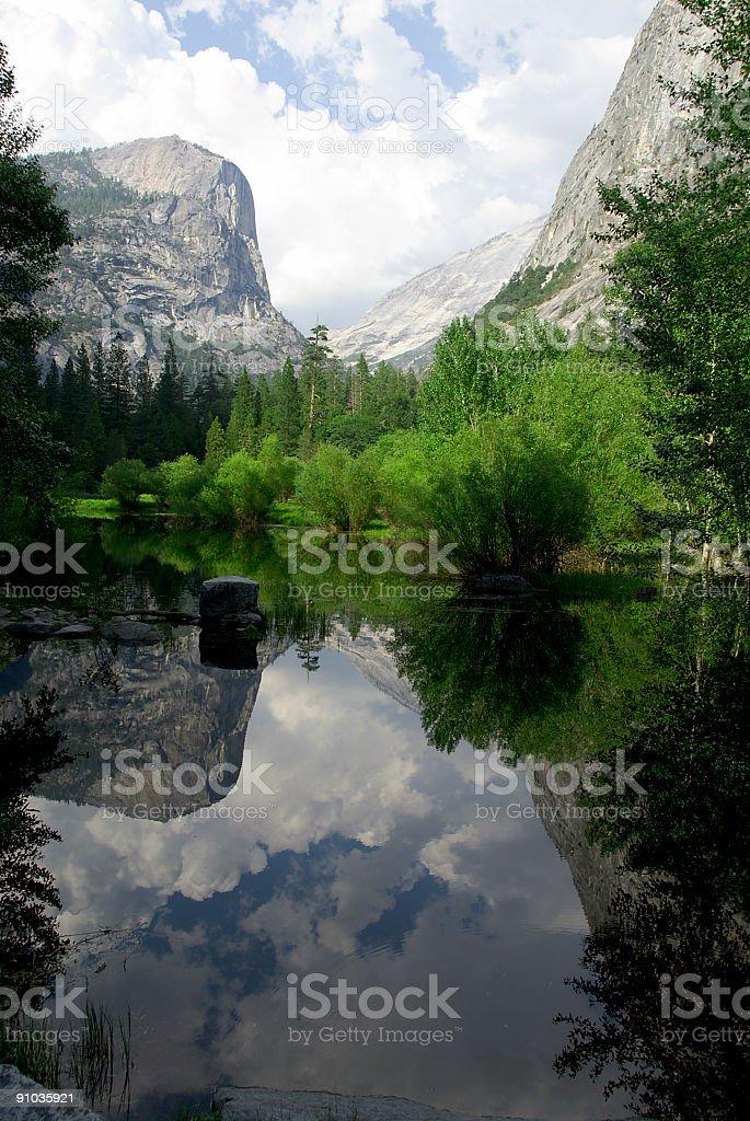 Mirror Lake, Yosemite National Park royalty-free stock photo