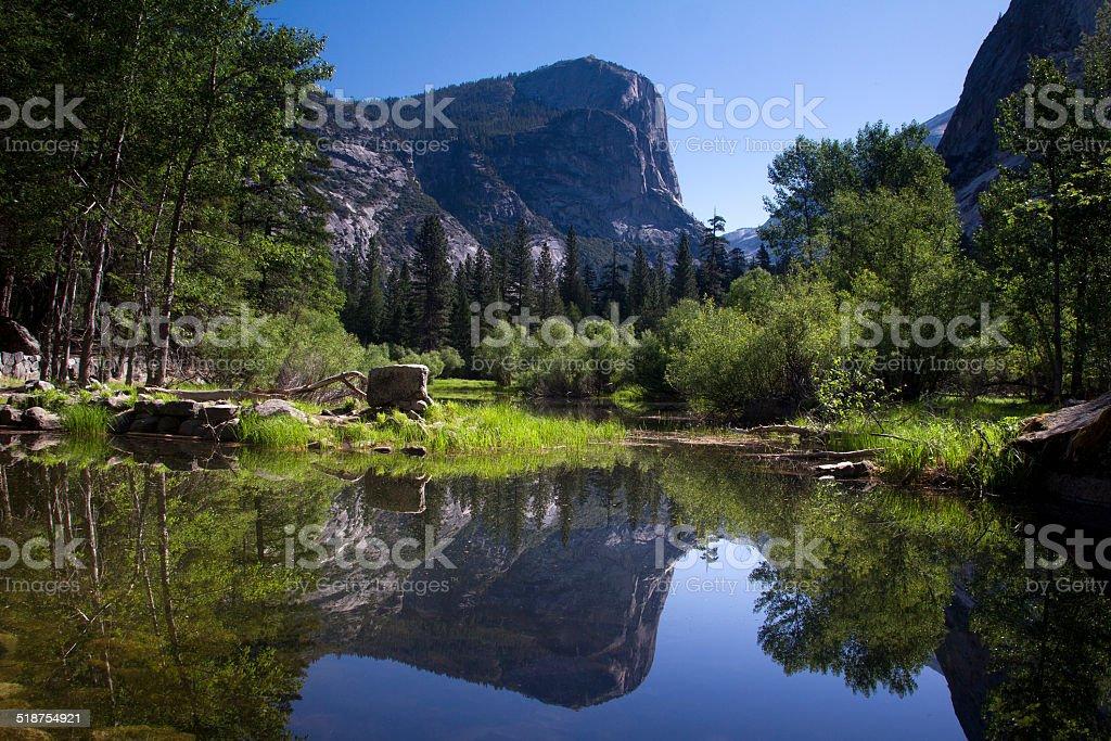Mirror Lake, Yosemite National Park, USA stock photo
