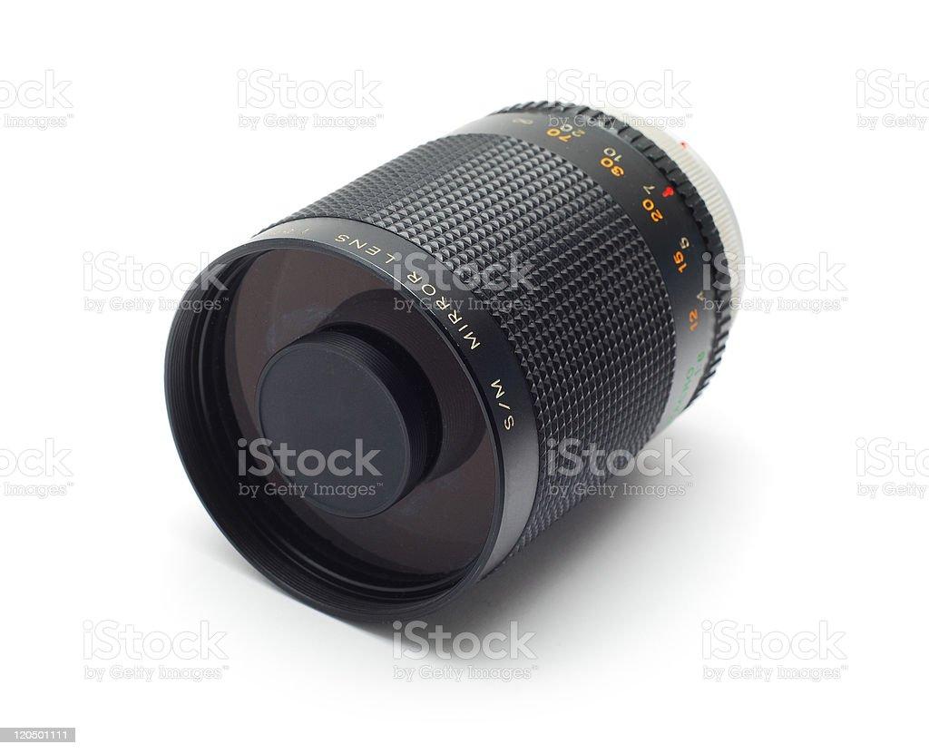 mirror lens stock photo