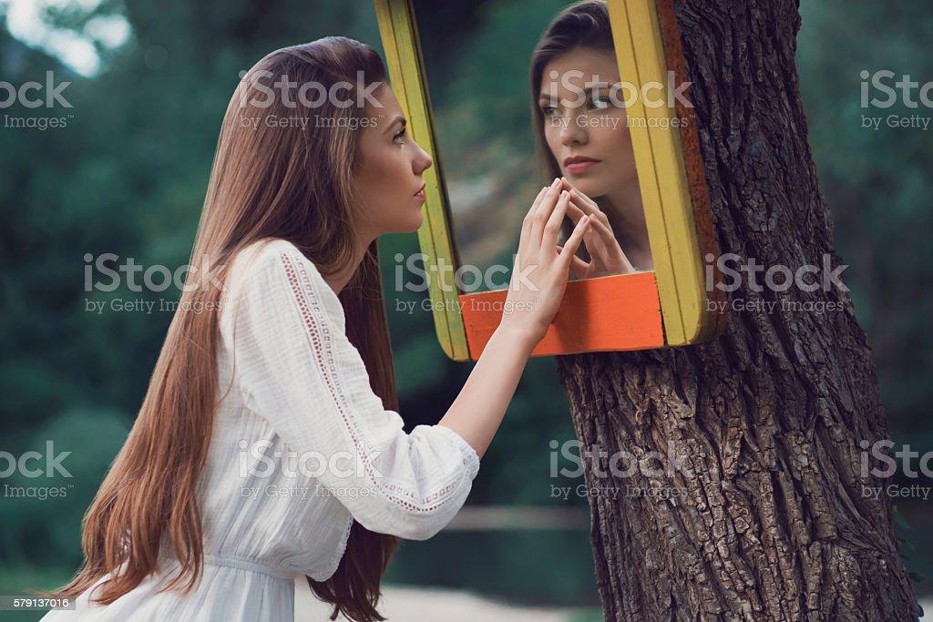 Mirror Mirror... stock photo