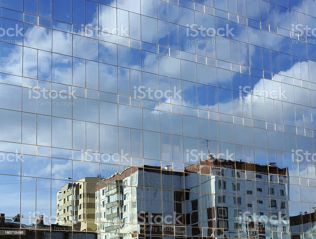 Mirror modern building royalty-free stock photo