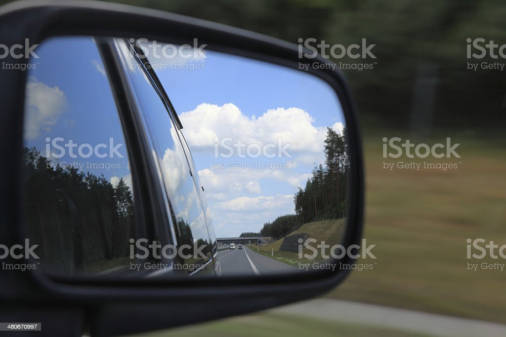 mirror of a car royalty-free stock photo