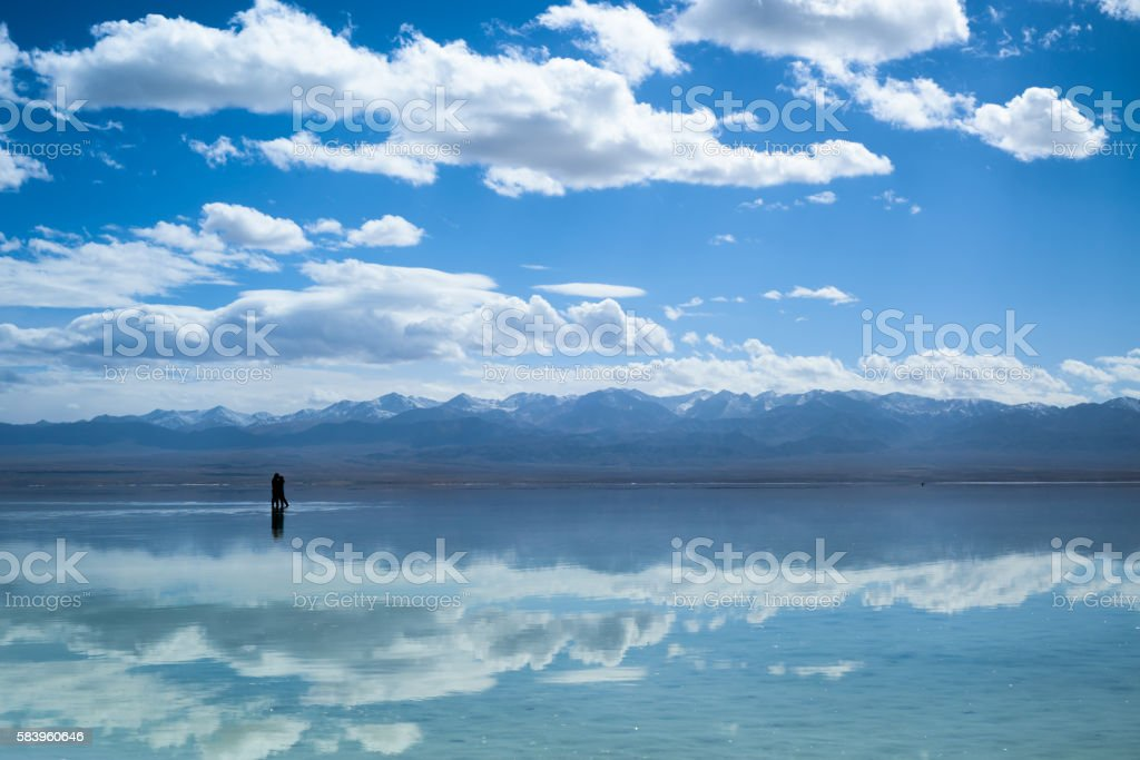 Mirror of the lake stock photo