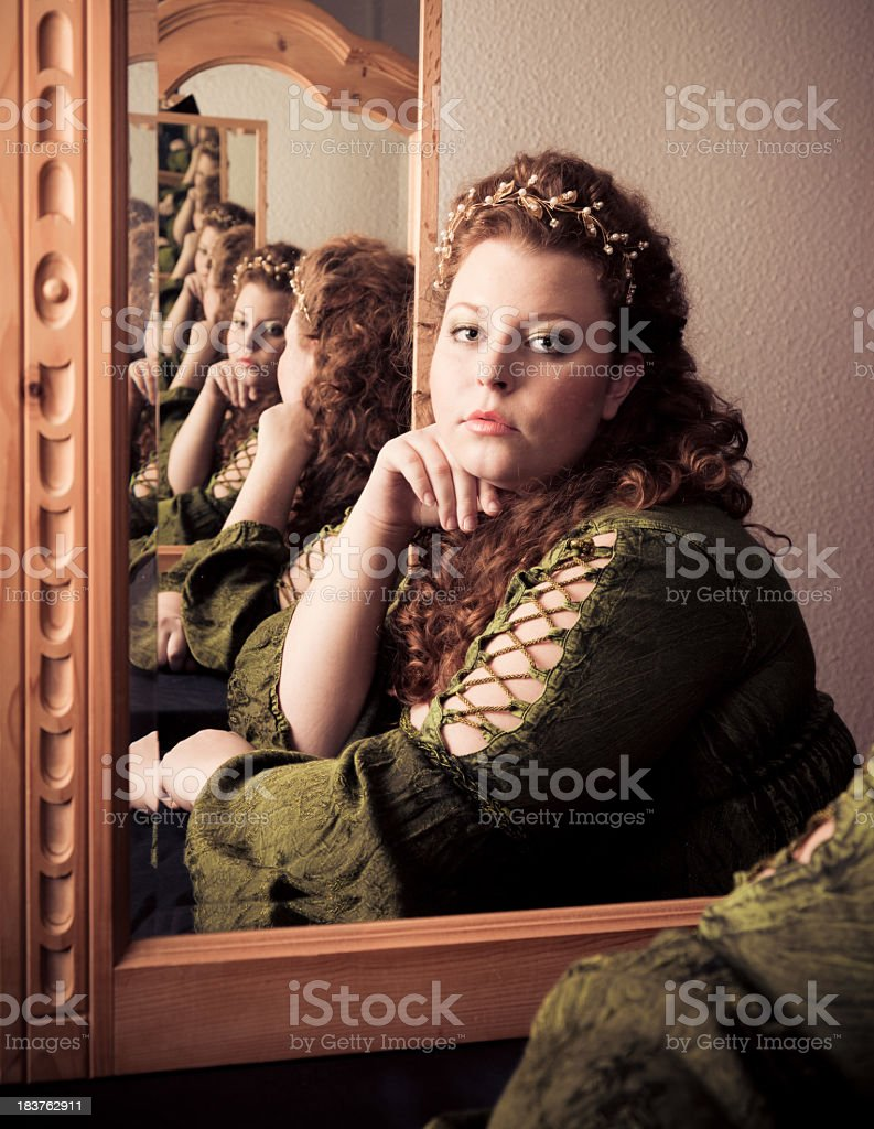 mirror on the wall stock photo
