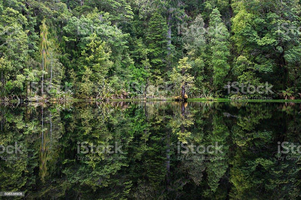 Mirror Tarn,  New Zealand stock photo