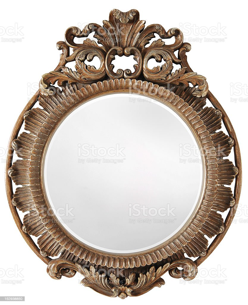 mirror with frame royalty-free stock photo