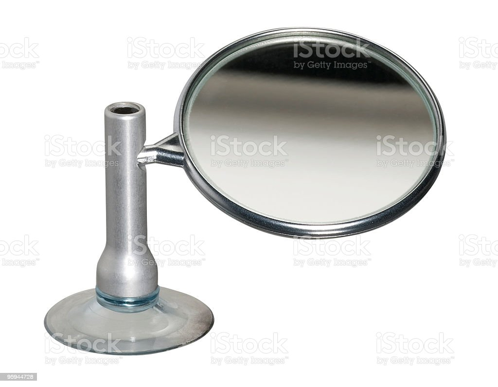 mirror with vacuum cup stock photo