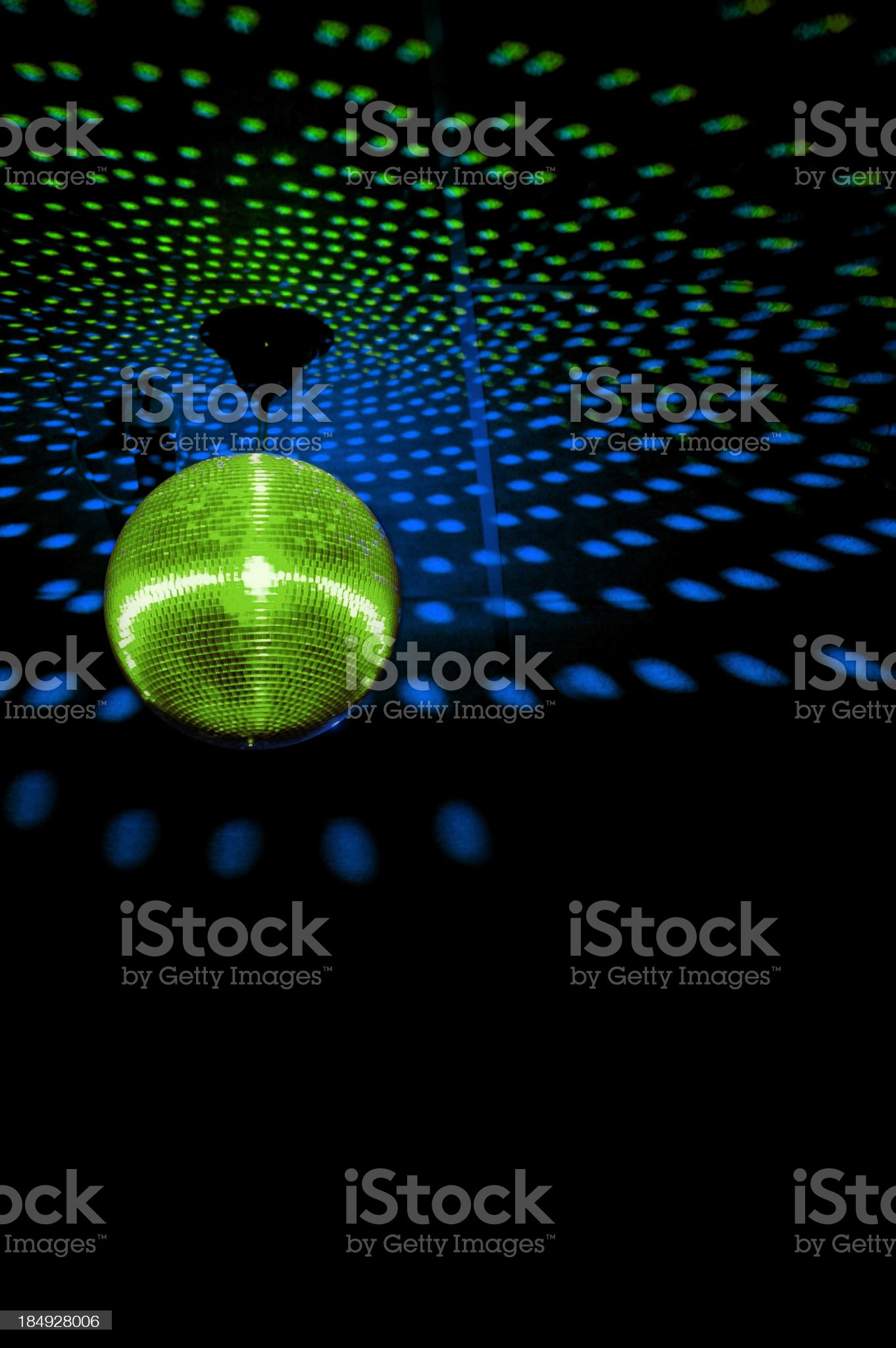 Mirrorball in disco 2 royalty-free stock photo