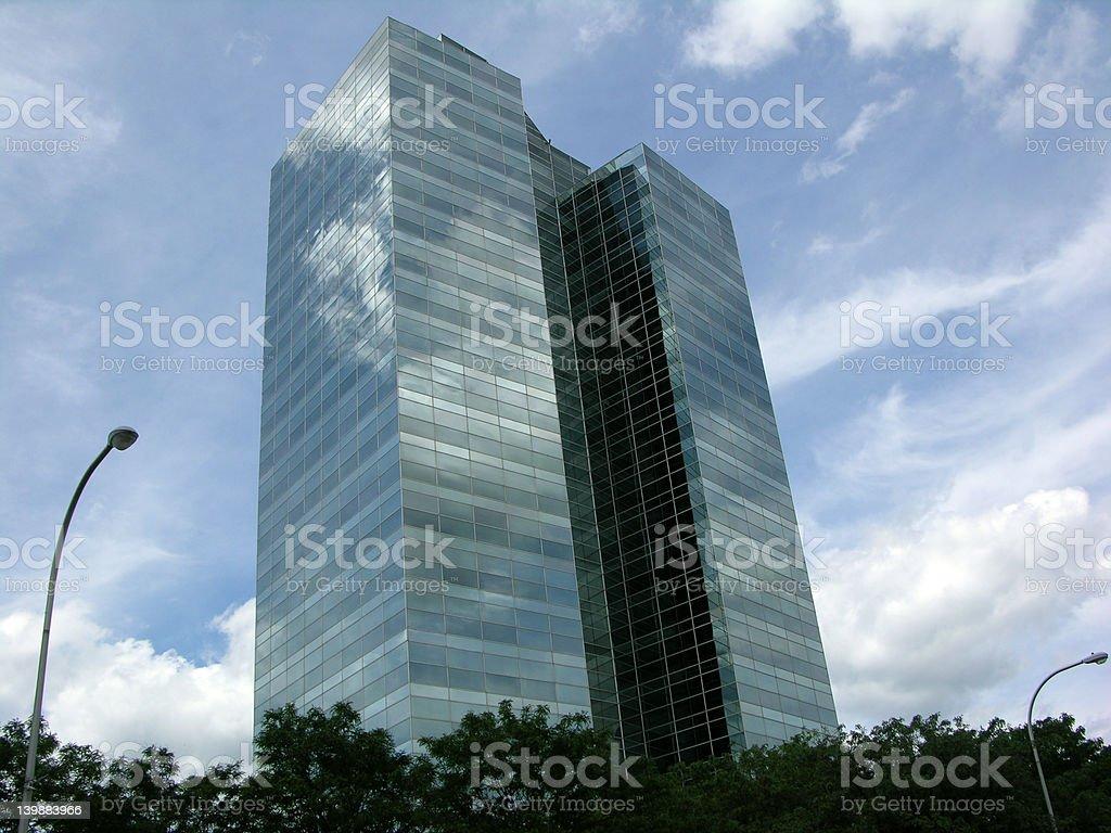 MIrrored Building stock photo