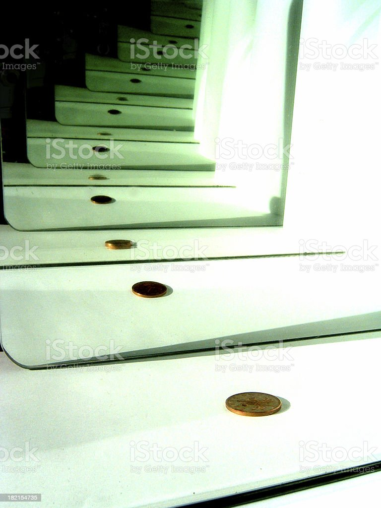 mirrored penny royalty-free stock photo