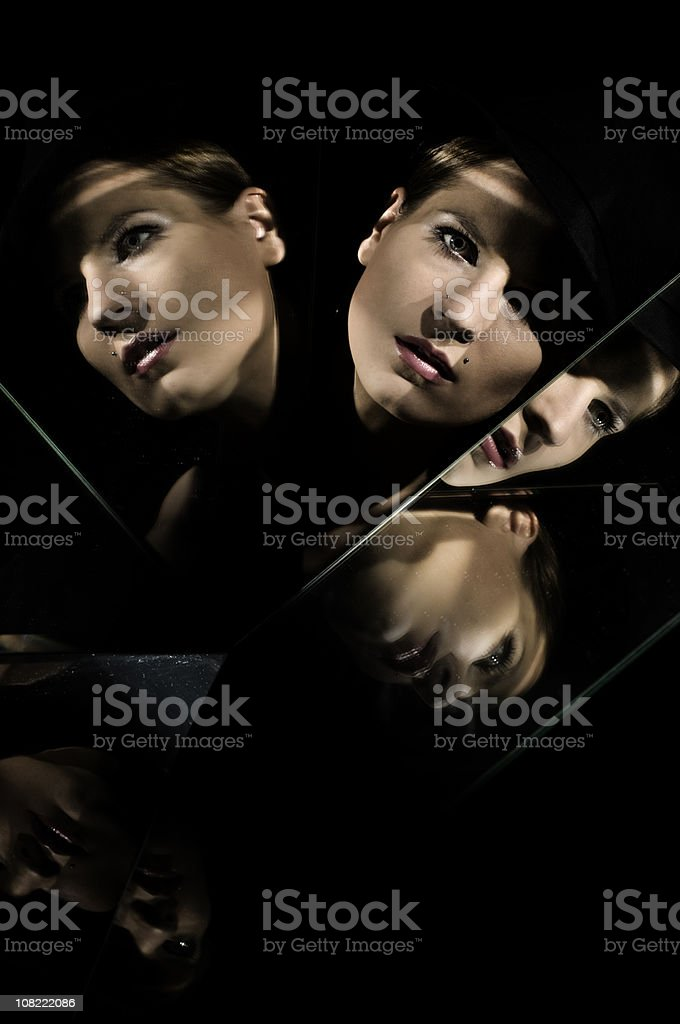 mirrored stock photo