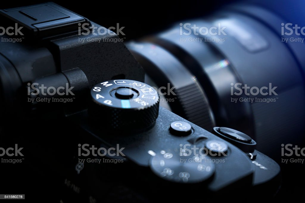 Mirrorless Camera Detail stock photo