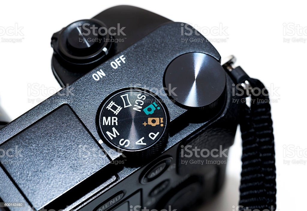 Mirrorless Camera Detail stock photo